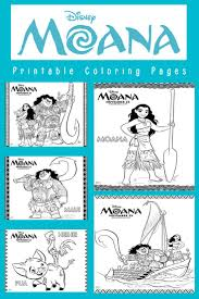 save download and print six disney moana coloring pages that