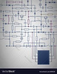 electrical circuit diagram royalty free vector image