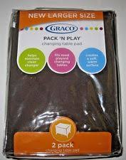 Graco Changing Table Pad Graco 2 Pack Changing Table Pad Covers Arden Brown Ebay