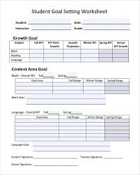 goal setting worksheet middle free worksheets library