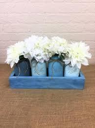 blue waves quart mason jar planter box centerpiece u2013 twisted r designs