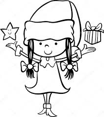 santa claus cartoon coloring page u2014 stock vector izakowski