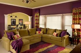 Yellow And Brown Living Room Decorating Ideas Purple And Brown Living Room Yellow Moroccan Fabric Armless Sofa