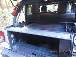 jeep tailgate storage lockable storage jeep wrangler forum