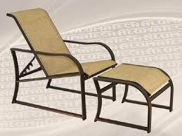 reclining patio chair with ottoman caymen sling line patio furniture patio furniture recliner lochman