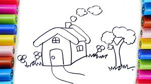 drawing and coloring house for learning colors and coloring pages