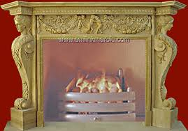Yellow Fireplace Roman Fireplace Design Yellow Marble Surround Af 01 026