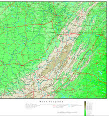 Maps Virginia by West Virginia Elevation Map