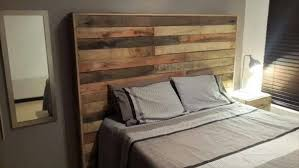 Pallet Wood Headboard Wonderful Diy Pallet Wood Headboard Projects Pallets Designs