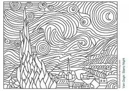 awesome famous paintings coloring pages regard