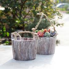 compare prices on wood hanging planter online shopping buy low
