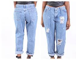 Destroyed High Waisted Jeans All Sizes Destroyed Boyfriend Jeans Plus Sizes