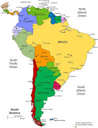 south america map rainforest forest