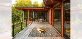 outdoor fire pit and patio katherine hillbrand sala architects