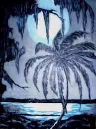 moonlight on water acrylic on canvas 12 x 16 limited edition fine art print 1 25