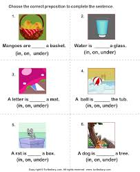 prepositions of place in on under worksheet turtle diary