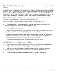 Underwriter Resume Sample Motion Calls For More Study Of Arts District Station The Source