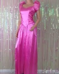 eighties prom dress vintage pink 80s prom dress bows sleeves womens d12 ebay