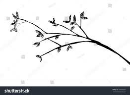 hand draw sketch tree branches stock vector 198086699 shutterstock