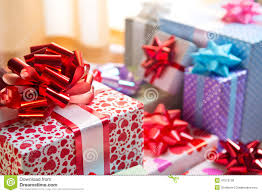 Beautifully Wrapped Gifts - beautifully wrapped gift boxes stock photo image 47513128
