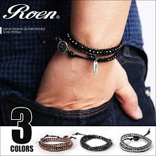 crystal leather wrap bracelet images Crazy ferret rakuten global market roen rouen double jpg