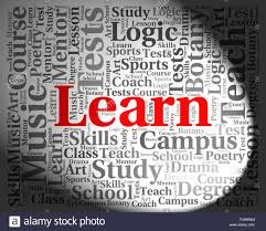 learn word meaning words college and education stock photo