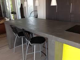 cuisine beton cire îlot central cuisine en béton ciré béton ciré plan de travail