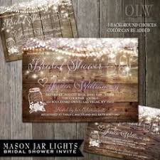 rustic country wedding invitations bridal shower jars lace lights rustic country chic barn