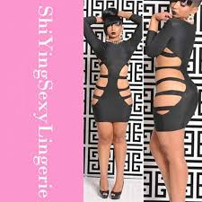 skintight black women dress 2015 new 3 4 sleeve sultry