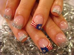 american flag acrylic nails google search hair clothes