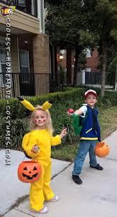 Pikachu Halloween Costume Kids Coolest Homemade Pokemon Halloween Costumes Kids Ash Ketchem