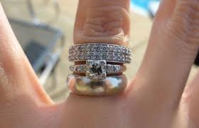 three ring wedding set any bees with one engagement ring and two different wedding bands