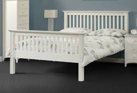 Wooden White Bed Frames Amazing Batana White Wooden Bed Frame Bf Beds Leeds With Regard To