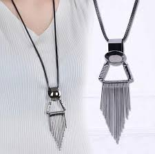 big rhinestone necklace images Big gold metal long tassel rhinestone necklace jpg