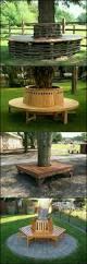 bench beautiful half log bench wooden bench diy 4 simple pieces