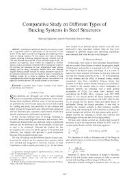 comparative study on different types of bracing systems in steel