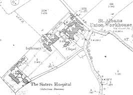 map of st albans the workhouse in st albans hertfordshire