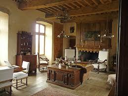 chambres d hotes aveyron le salon salle à manger du château de lunac vente d un petit