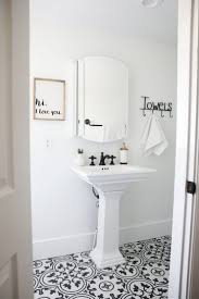 black and white bathroom i heart nap time black and white bathroom makeover on a 1888 fixer upper white subway tile oil