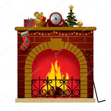 christmas fireplace u2014 stock vector maystra 17473683
