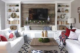 In Wall Bookshelves by Christmas Living Room With Bookcases Converted Into Built Ins