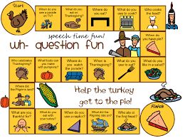 thanksgiving wh question board freebie
