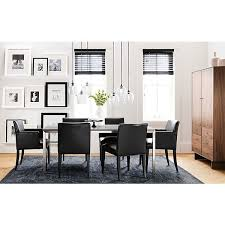 room and board custom table portica dining table with marie dining chairs home gray black