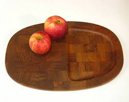 cutting board plate end grain plate etsy