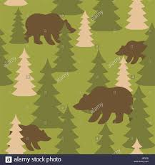 army pattern clothes military camouflage background bears in woods wild beasts and trees