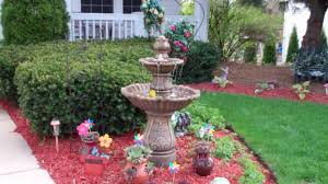 Home Fresh by Topnotch Front Yard Fountain With Colorful Flowers On Cute Planter