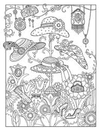 hang hat fanciful fashions coloring book marjorie