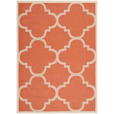Safavieh Outdoor Rugs Safavieh Courtyard Terracotta 4 Ft X 5 Ft 7 In Indoor Outdoor