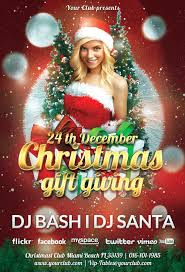 free christmas gift giving party flyer awesomeflyer com