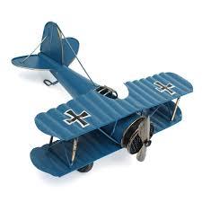 large retro blue plane airplane aircraft model home decor ornament